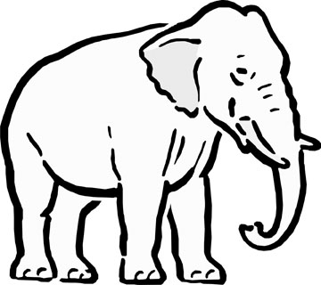 Free Line Drawing Of Elephant, Download Free Clip Art, Free.