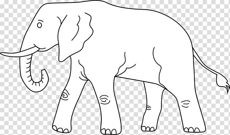 Elephant Line art Drawing , elephants transparent background.