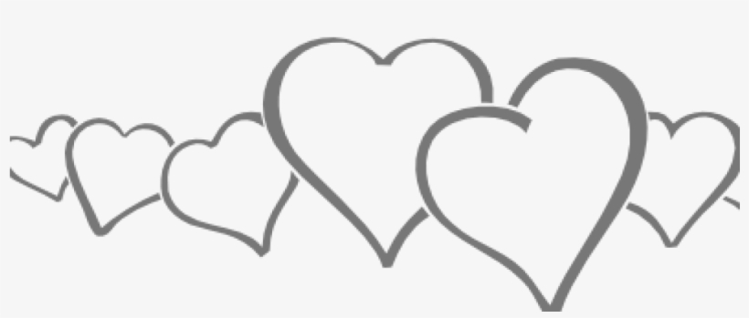 Line Clipart Hearts In A Line Clip Art At Clker Vector.