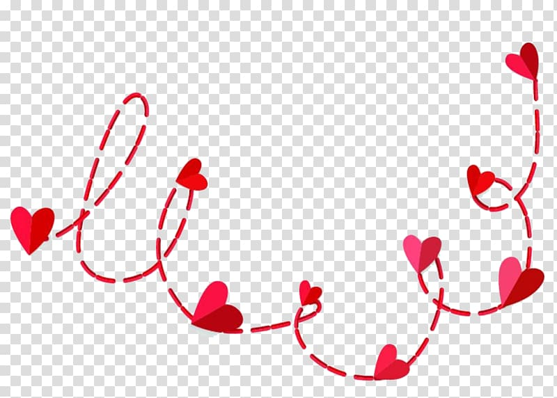 Red hearts illustration, Red heart.