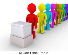 line of people clipart #10