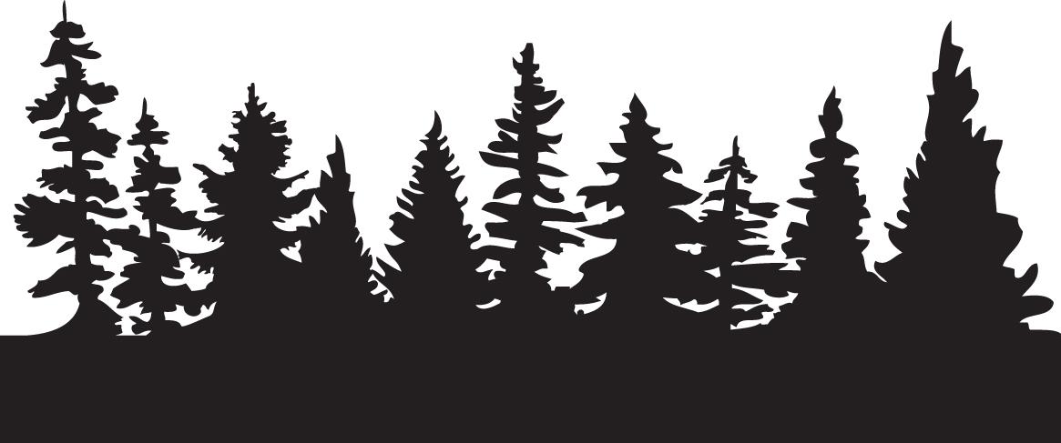Pine Tree Line Clipart.
