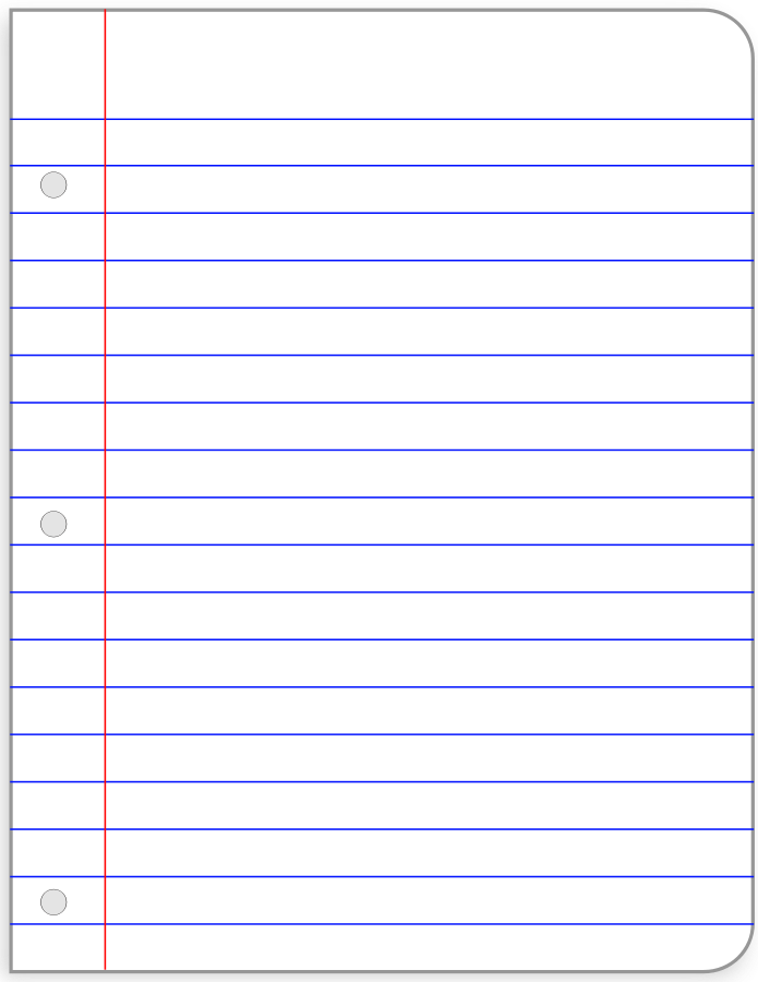 Lined Paper Template Clipart.