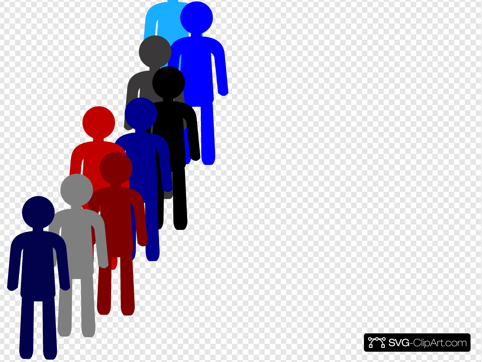 People In A Line Clip art, Icon and SVG.