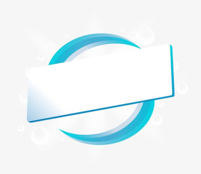 Blue line ring title box PNG and Vector.