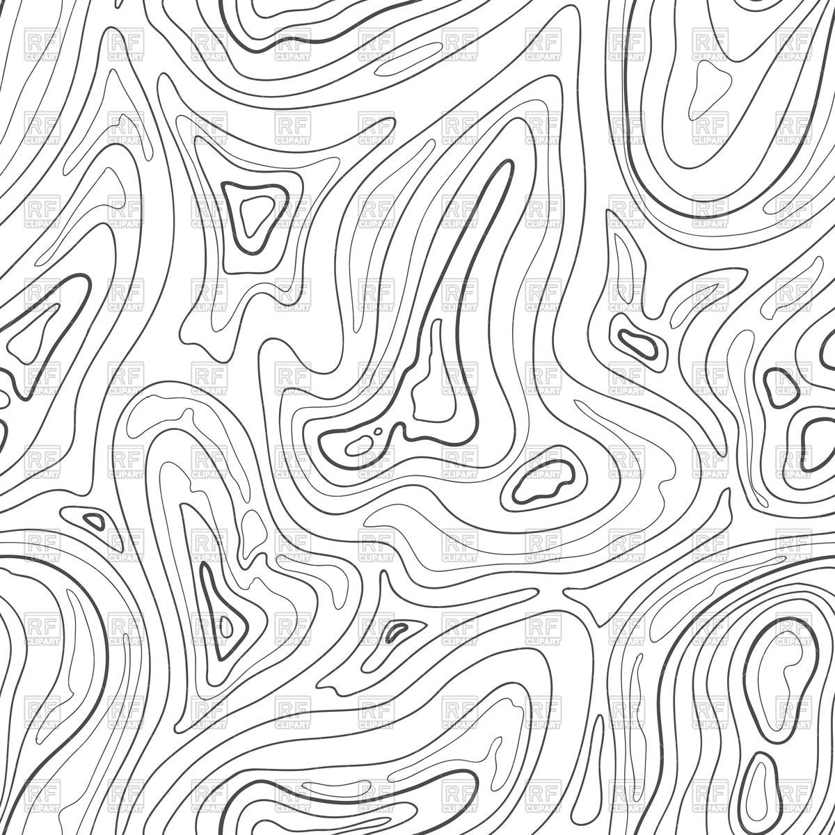 Contour topographic map background Stock Vector Image.