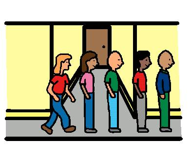 Class in line clipart.