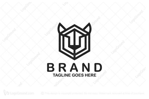 Exclusive Logo 50680, Tiger Face Linear Logo.