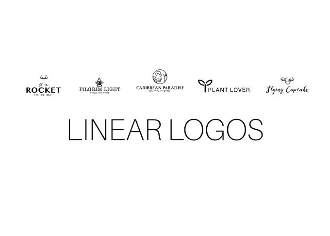 Create a minimal linear logo by Andreainzunza.