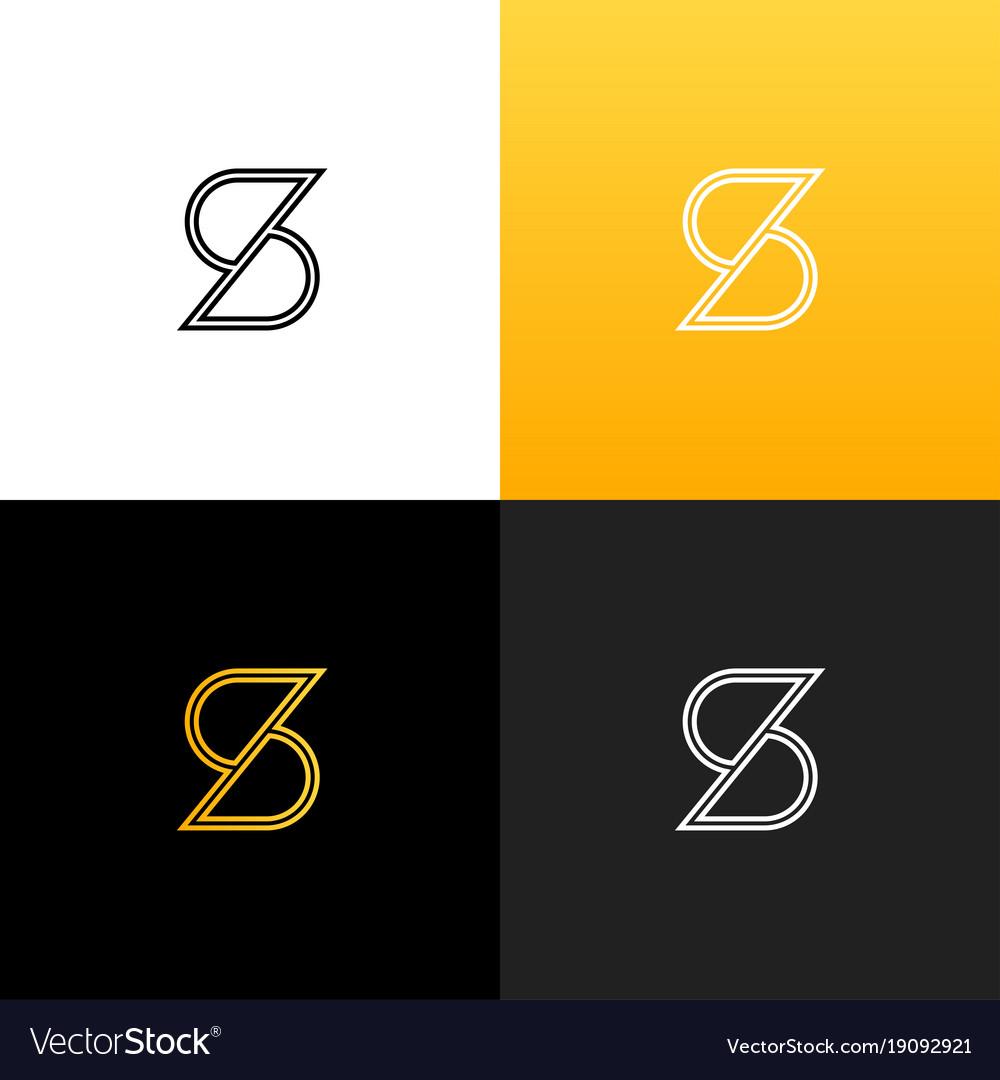 Logo s linear logo of the letter s.