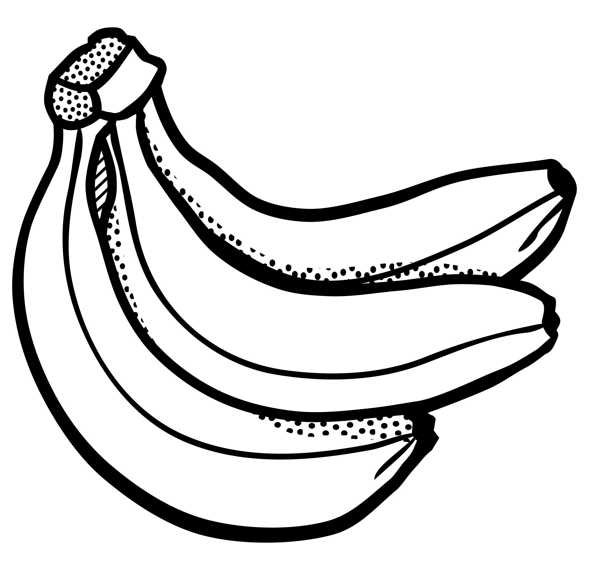 Banana clipart line art, Banana line art Transparent FREE.