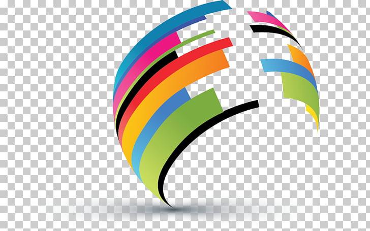 Logo diseño gráfico de negocios, lineas abstractas. PNG.