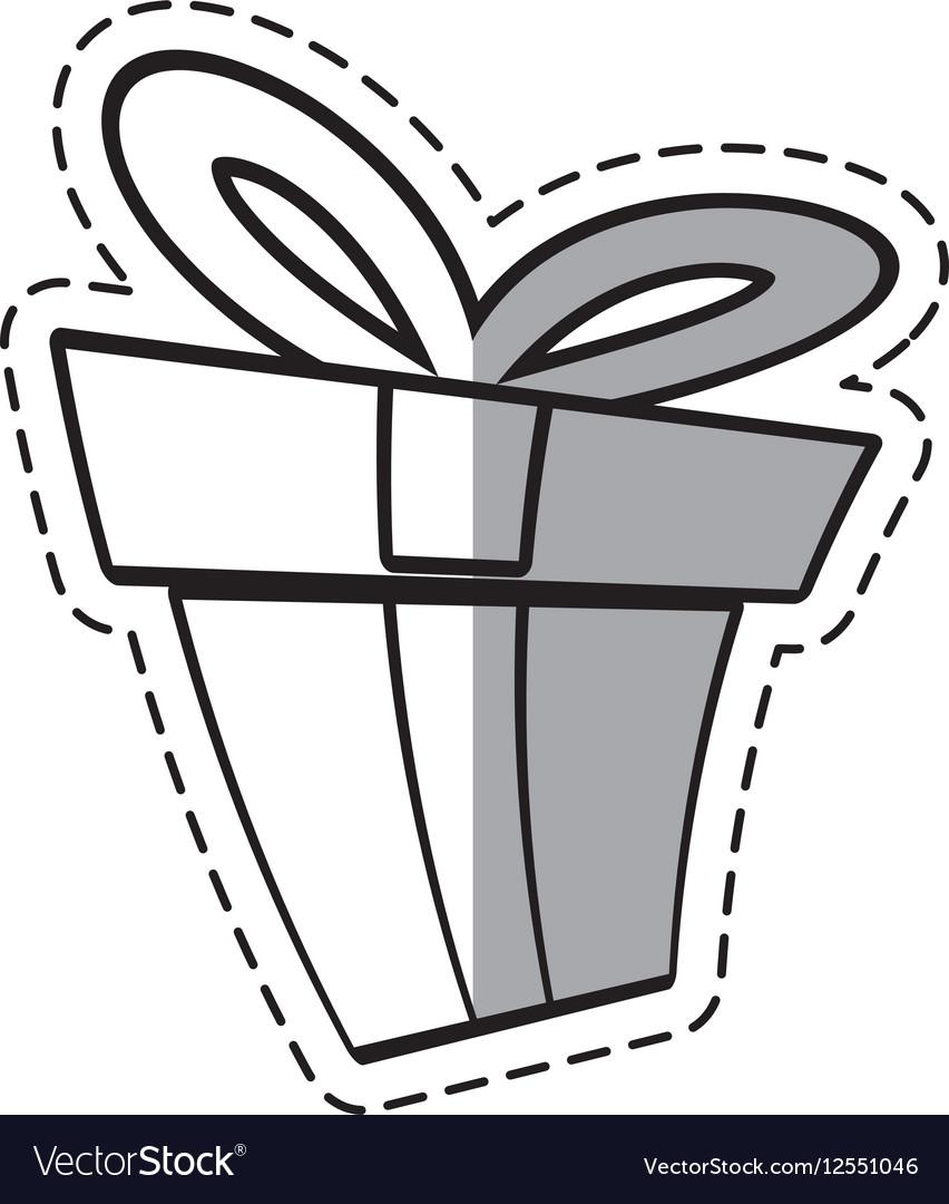 Gift box ribbon elegant present linea shadow.