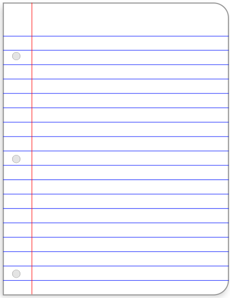Clipart Lined Paper.