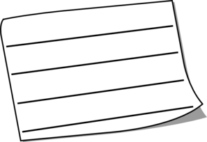 Wide White Sticky Note Lined Clip Art at Clker.com.