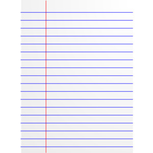 Lined notebook paper clipart.