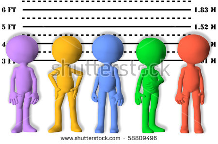 Suspect Line Up Stock Photos, Royalty.