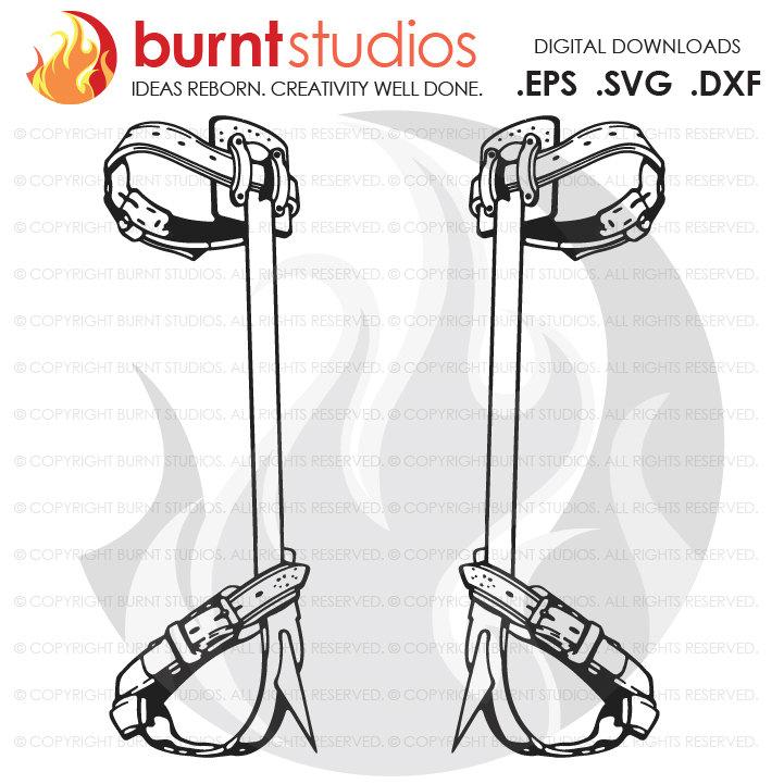 Digital File, Lineman, Linemen, Skull, Climbing Hooks, Spikes, Gaffs, Shirt  Design, Decal Design, Svg, Png, Dxf, Eps file.