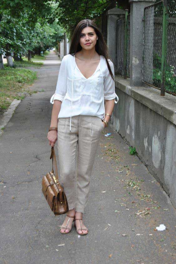20 Style Tips On How To Wear Linen Pants This Summer.