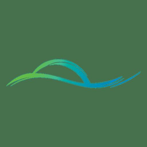 Wave lines logo.
