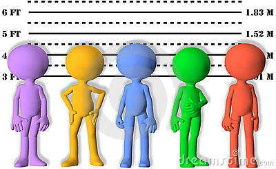 Police line up clipart.