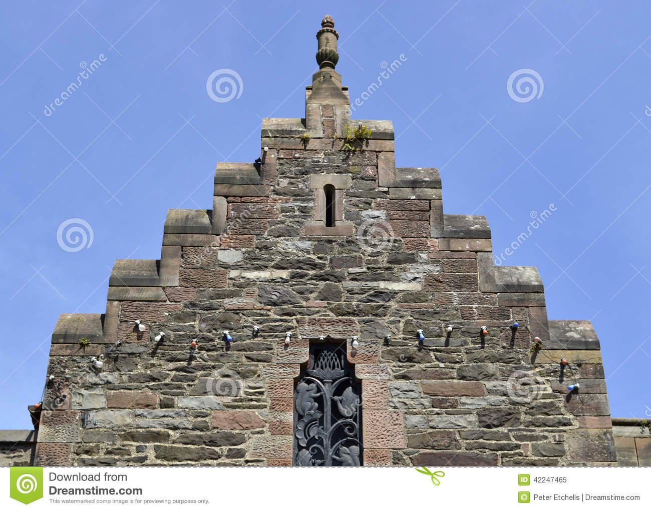 Crow Stepped Roof In Lingen In Germany Stock Photo.