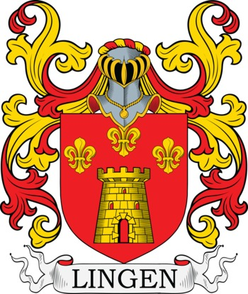 Lingen Coat of Arms Meanings and Family Crest Artwork.