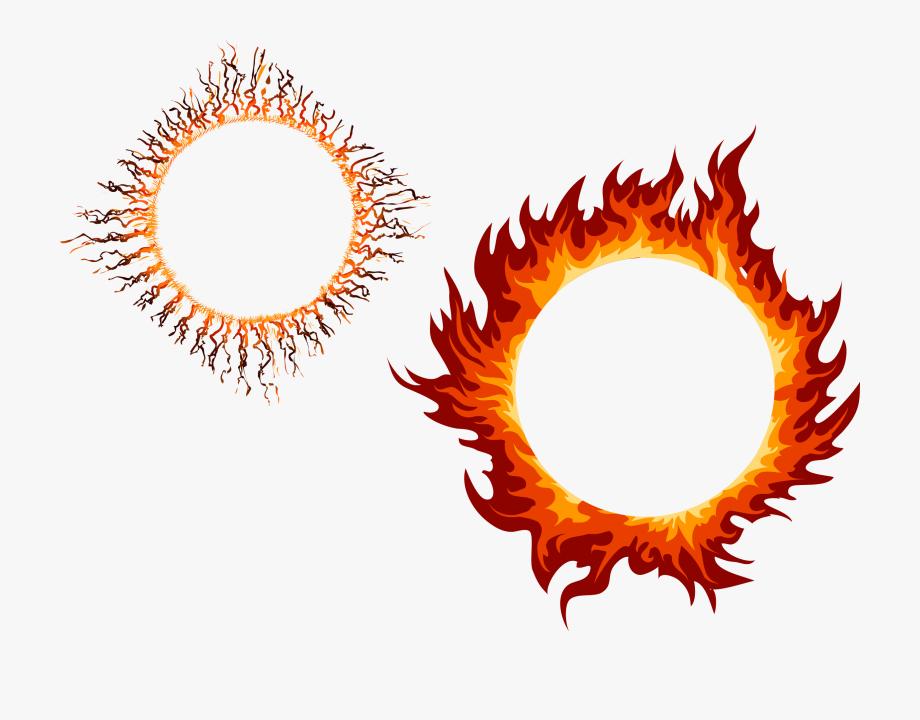 Fire Vector Frame.