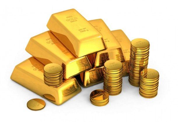 Imágenes y Wallpapers HD: Lingotes y monedas de oro.