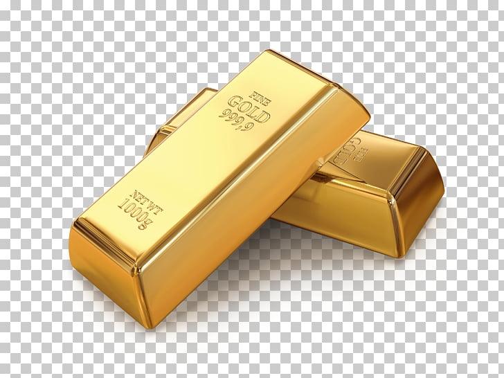 Dos lingotes de oro, lingotes de oro. PNG Clipart.