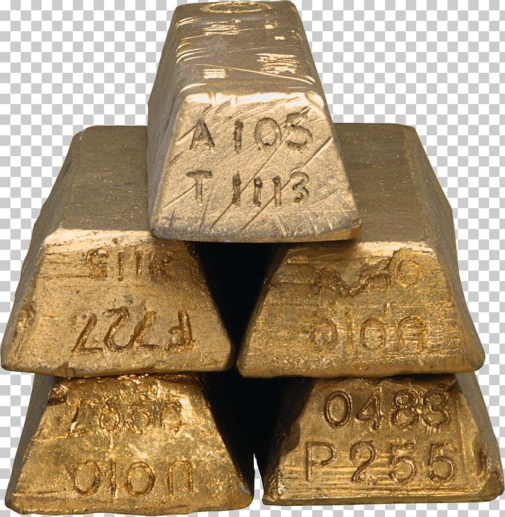 Lingote de lingotes de lingotes de oro mali, egipto PNG.