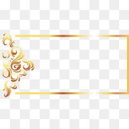 Moldura De Ouro Vetor Linha De Estilo Europeu, Moldura.