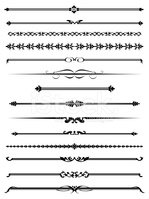 Linhas Decorativas Quatro Stock Vector.
