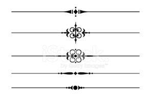 Linhas DE Divisão Decorativa imagens vetoriais.