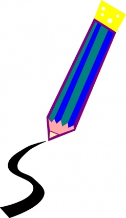 Pencil Drawing A Line clip art Clipart Graphic.