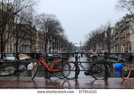 Amsterdam Holland Netherlands Romantic Bridge Over Stock Photo.