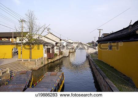 Stock Photo of China, Suzhou, Tiger Hill, house.
