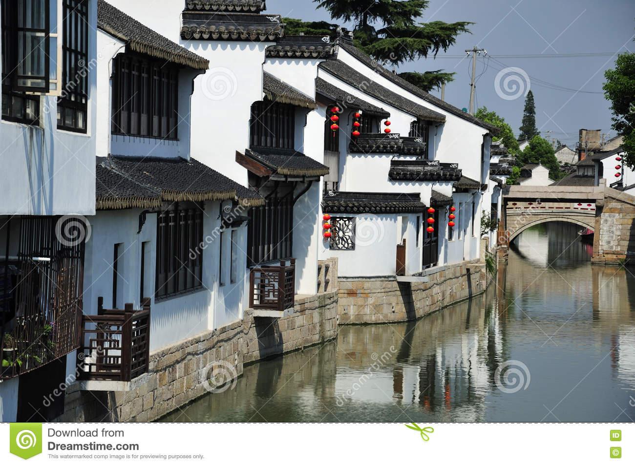 Luzhi Water Town China Stock Photo.