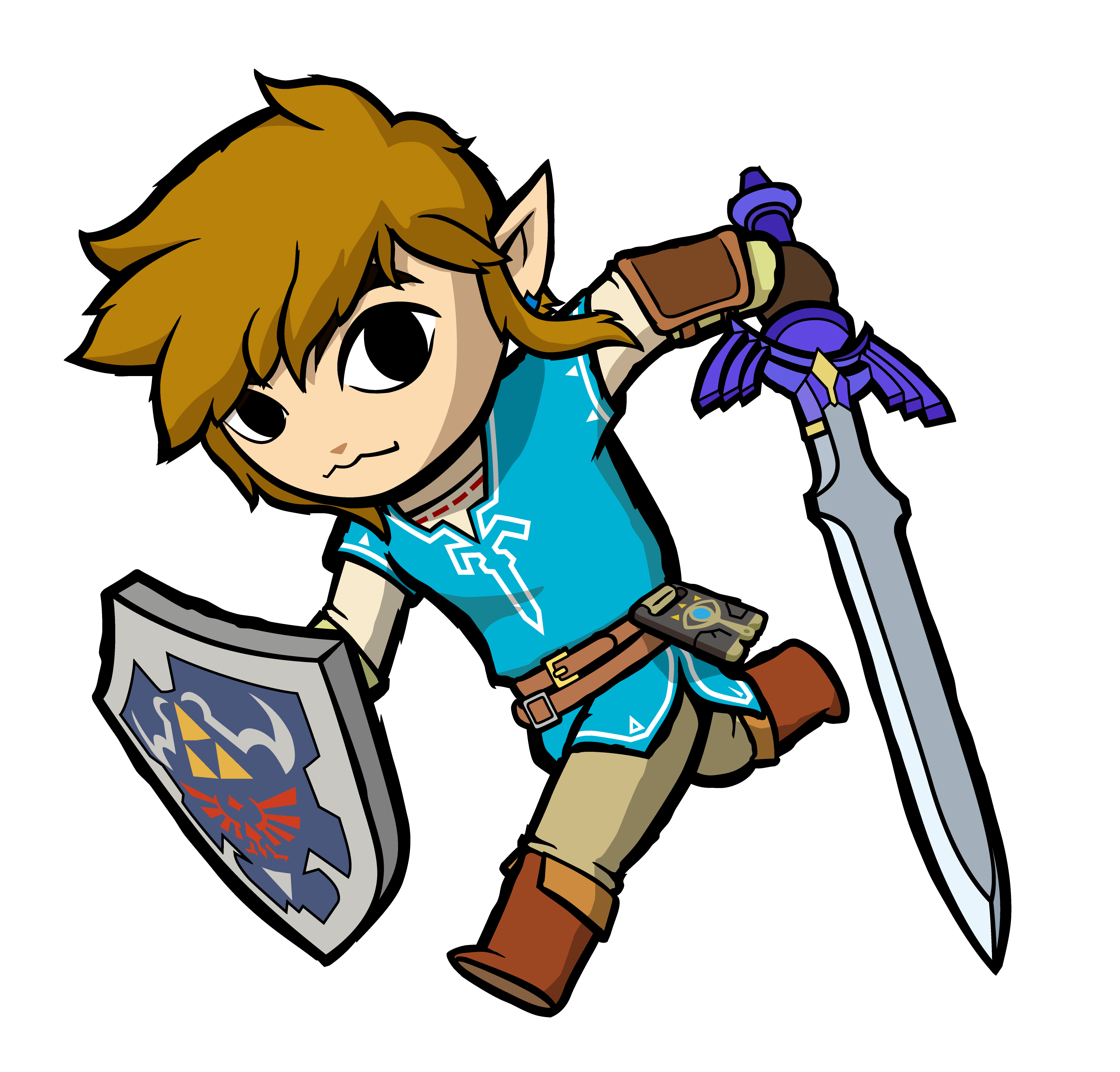 OC ART] I drew Breath of the Wild link in the toon link.