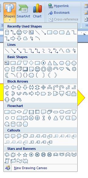 Link two shapes : Shape « Shape Picture WordArt SmartArt Clip Art.