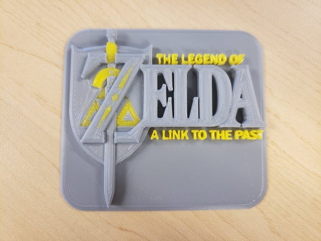 The Legend of Zelda A Link to the Past Cartridge Logo 3D.