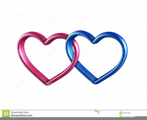 Linked Hearts Clipart.