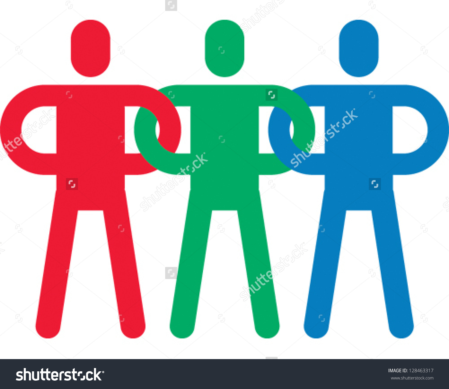 Linking Arms Clipart.