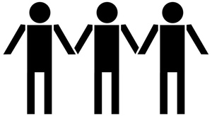 Holding Hands Clipart Image.