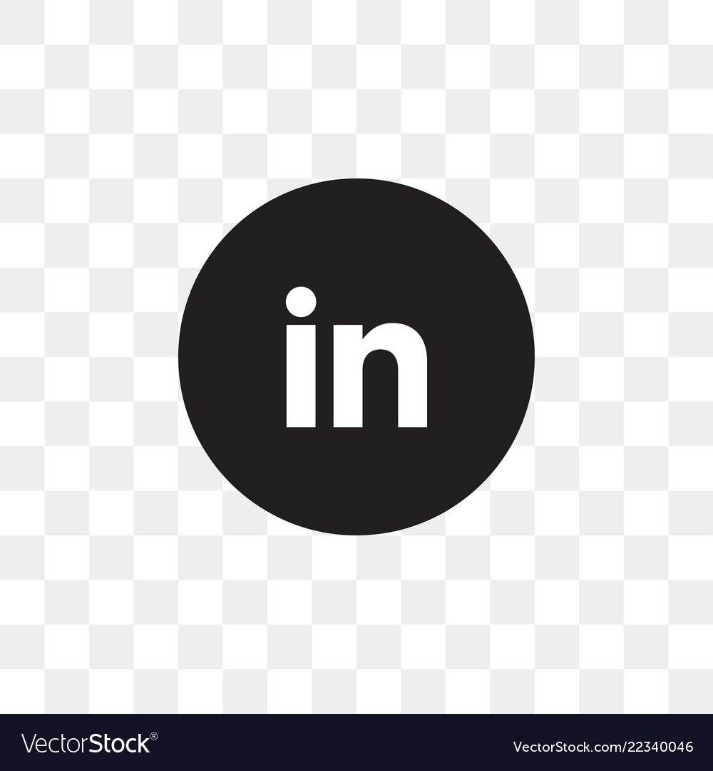 Linkedin social media icon design template.