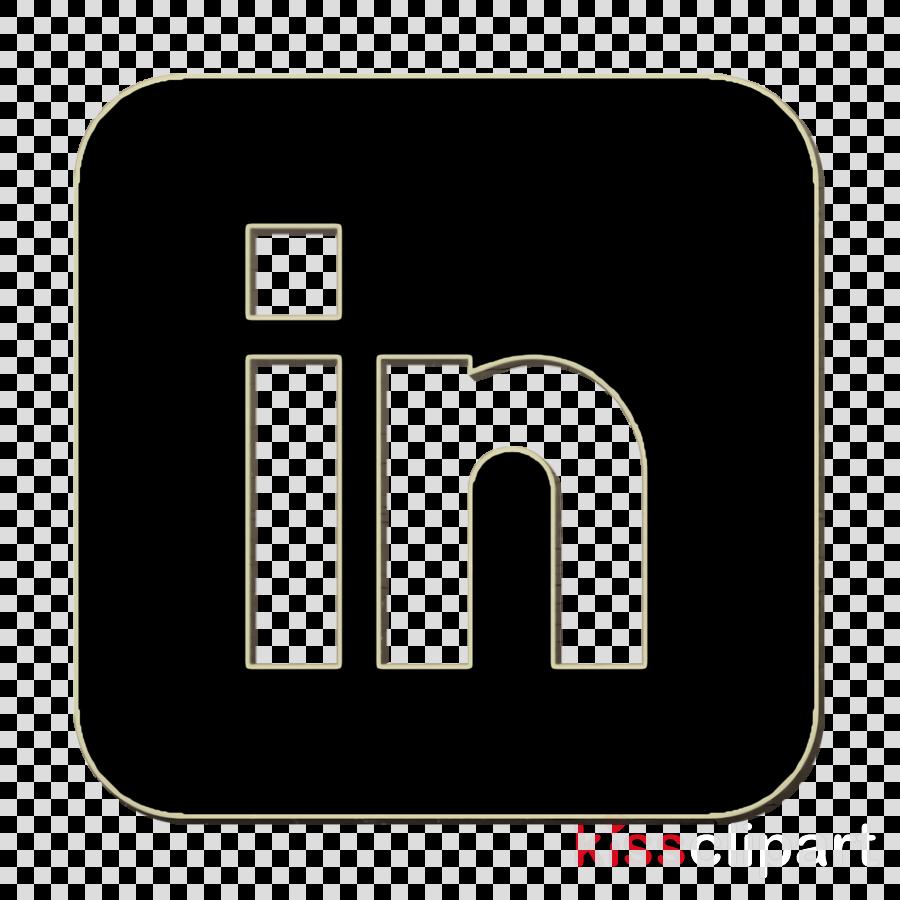 Linkedin icon Social Media icon clipart.