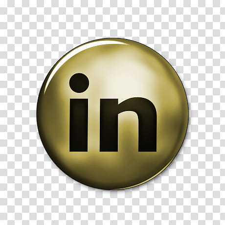 Network Gold Icons, linkedin.