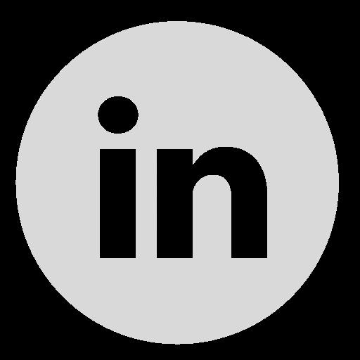 Circle, gray, linkedin icon.