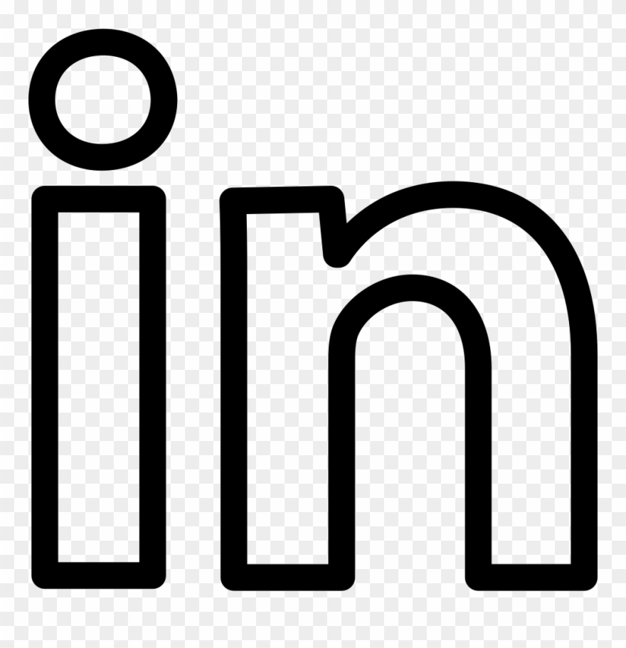 Linkedin Social Outline Logotype Comments.