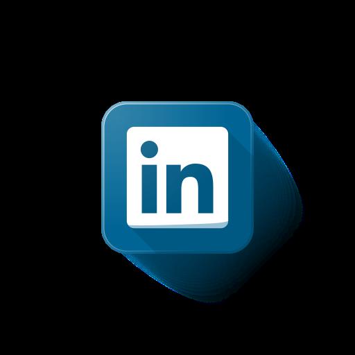 Linkedin, logo Free Icon of Popular Web Logos / Button.